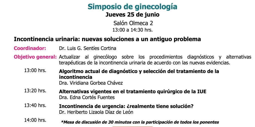 Incontinencia Urinaria de Urgencia ¿Realmente tiene solución?