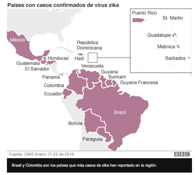 zika en latinoamerica